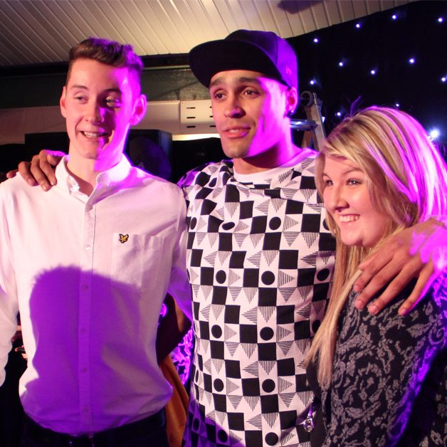 diversity's ashley banjo and party guests