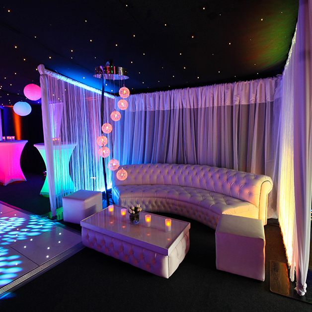 Marquee white sofa seating