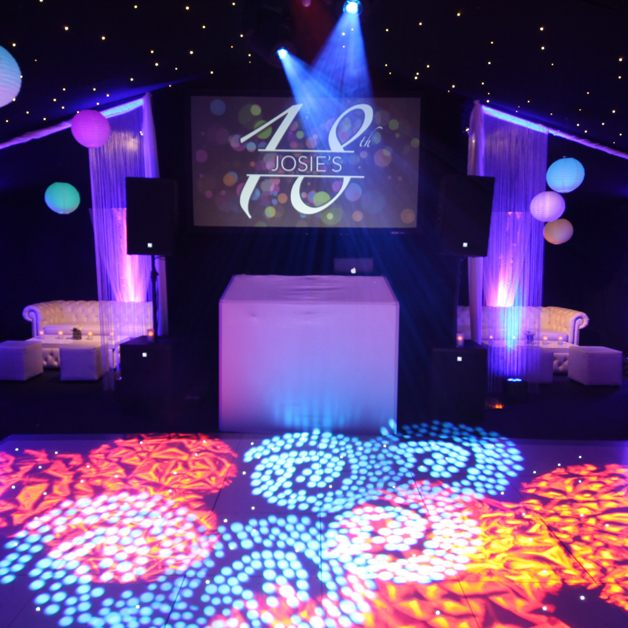 LED marquee party