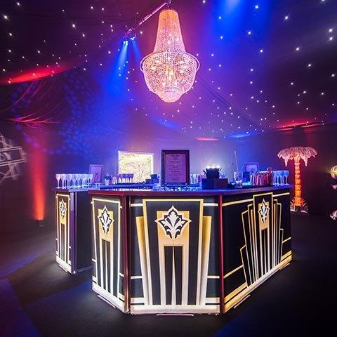 Great Gatsby themed bespoke mobile bar