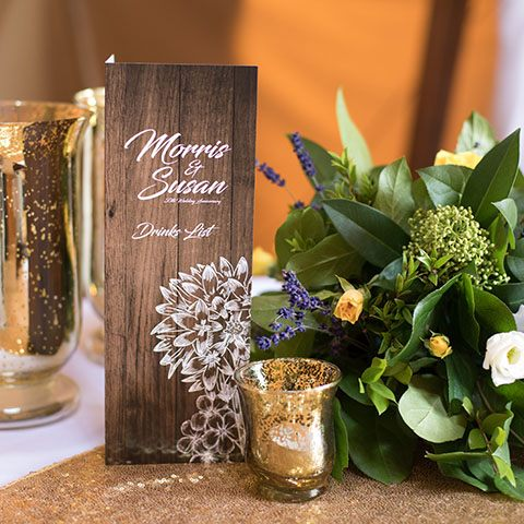 50th wedding anniversary table decor
