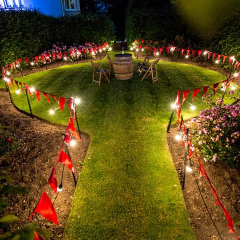 Wedding Outdoor Festoon lighting