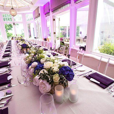 Wedding Table decor flowers