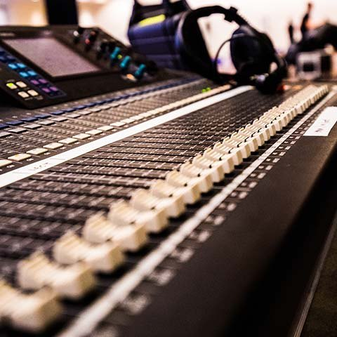 equipment hire sound desk