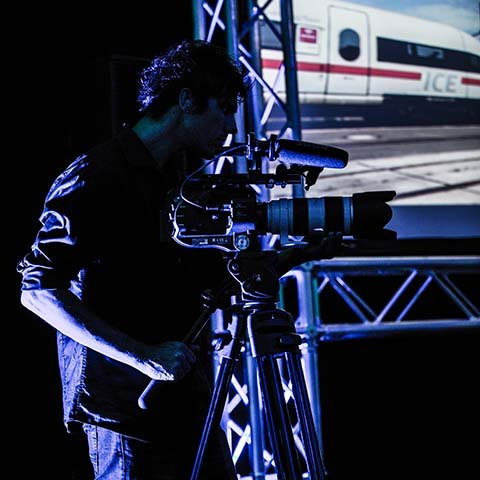 live event filming camera and operator
