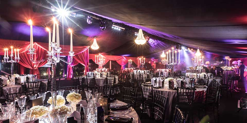 Bond themed 50th decor marquee party