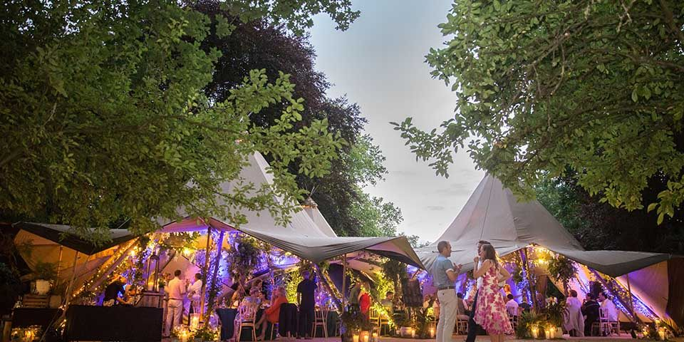 planning a party: Temporary structures