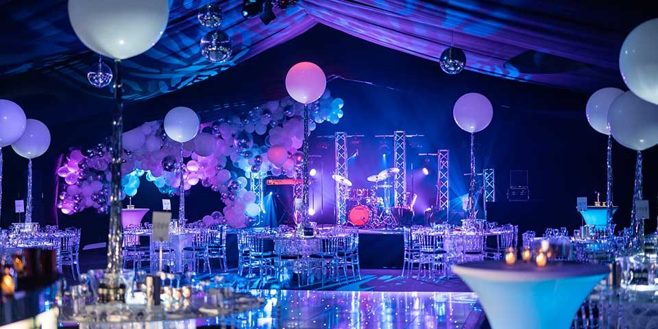 Main Stage at 18th Birthday Party in Marquee, Kent