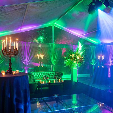 A sophisticated and spooktacular 40th birthday party in Kent