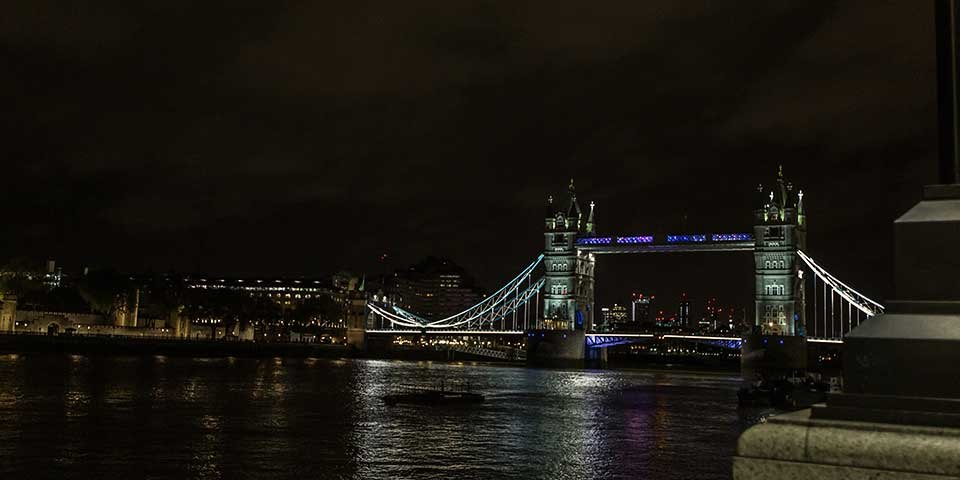 Party at Tower Bridge on River Thames