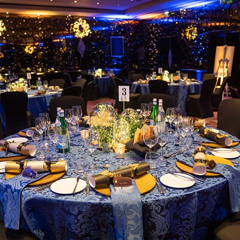 A stylish Christmas corporate event in London's Mayfair